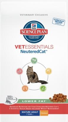Хиллс начинает выпуск низкокалорийного корма VetEssentials NeuteredCat для стерилизованных кошек